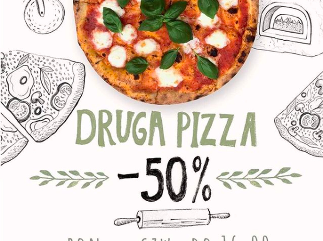 Druga pizza - 50%!